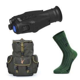 Darčekový set 2 do prírody - Nočné/Denné videnie Pard NV019 + Ruksak + 2 páry funkčných ponožiek
