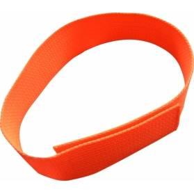 Zubíček Reflexný obojok na suchý zips - oranžový