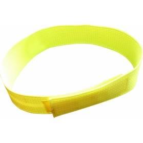 Zubíček Reflexný obojok na suchý zips - žltozelený