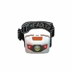 Čelové svietidlo Headlight 1 W LED + 2x červená LED