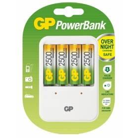 Nabíjačka GP PB420 + 4xAA nabíjateľné batérie GP2500 NIMH