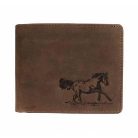 Kožená peňaženka s motívom bežiaceho koňa