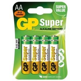 Batéria GP Super alkalická AA / 8 ks