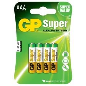 Batéria GP Super alkalická AAA / 4 ks