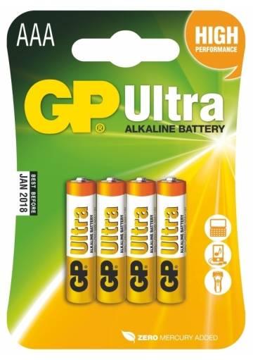Batéria GP Ultra alkalická AAA / 4 ks