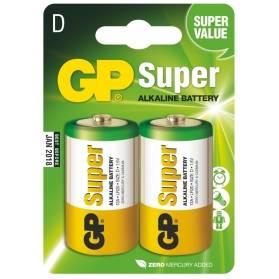 Batéria GP Super alkalická D / 2 ks