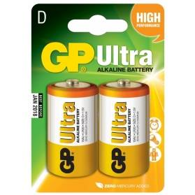 Batéria GP Ultra alkalická D / 2 ks