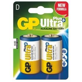 Batéria GP Ultra+ alkalická D / 2 ks