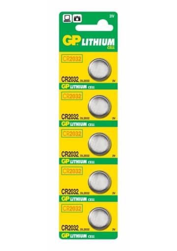 Batéria GP líthiová CR2032 / 5 ks