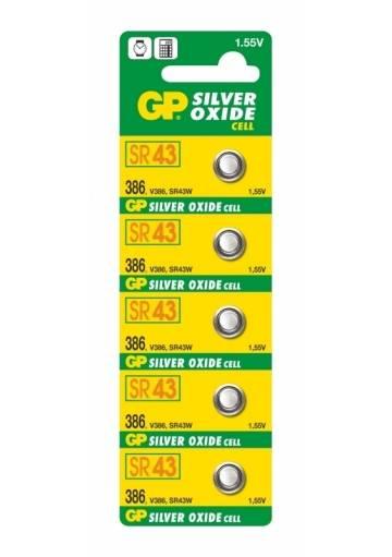Batéria GP oxid striebra 386 / 5 ks