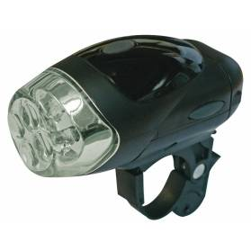 Cyklosvietidlo 4 LED čierne predné