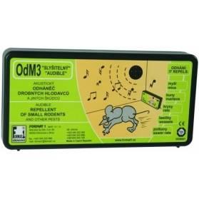 Plašič a odháňač na myši a kún OdM3 bez regulácie hlasitosti s baterkami