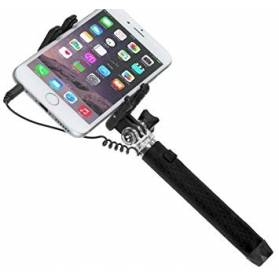 Selfie tyč so zrkadlom a káblom