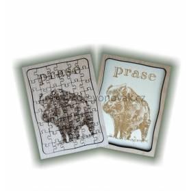 Puzzle s motívom lesnej zveri č. 838