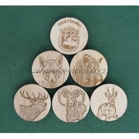 Prívesky na kľúče s motívom lesnej zveri č.10005