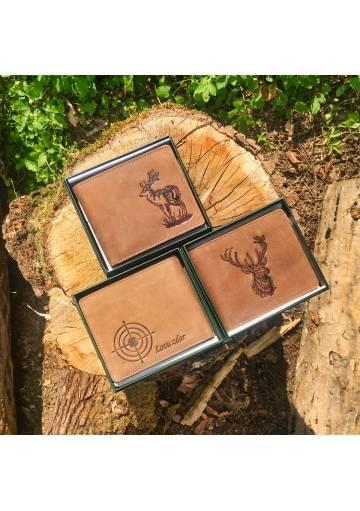 Kožená poľovnícka/rybárska peňaženka s motívom - 18 druhov