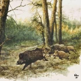 Servítky Diviaky v lese 33x33 cm, 20ks