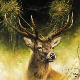 Servítky hlava jeleňa, 33x33cm