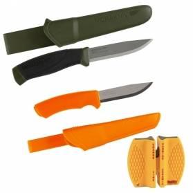 Darčekový set Nože - 2x Morakniv nôž z nerezovej ocele + brúsička