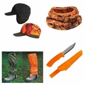 Darčekový set Reflexný - Obojstranná šiltovka a návleky + šatka + nôž