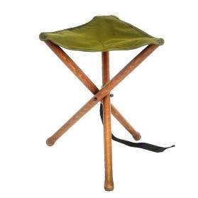 Zubíček stolička trojnožka malá, textilná dečka