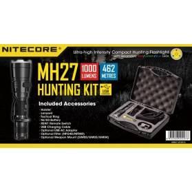 LED baterka NITECORE MH27 HUNTING KIT XP-L HI V3 RGB Poľovnícky set