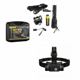 Darčekový set 4 pre poľovníka - Nitecore LED baterka poľovnícky set + LED Čelovka
