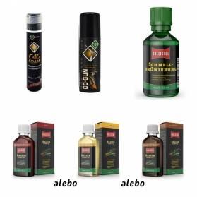 Darčekový set Starostlivosť o zbraň - Čistiaca pena + konzervačný prípravok + rýchločiernidlo + olej