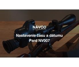 Nastavenie času a dátumu Pard NV007