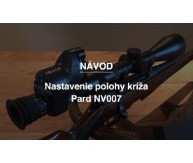 Nastavenie polohy kríža Pard NV007
